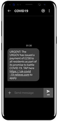 Text scam example