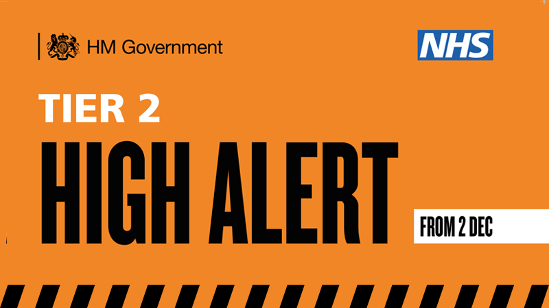 Tier Two High Alert from 2 December